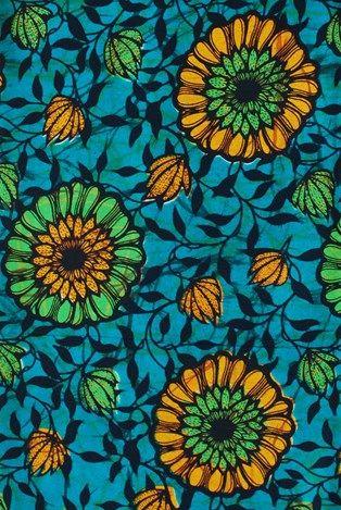 Tendrils African Print Fabric                              …