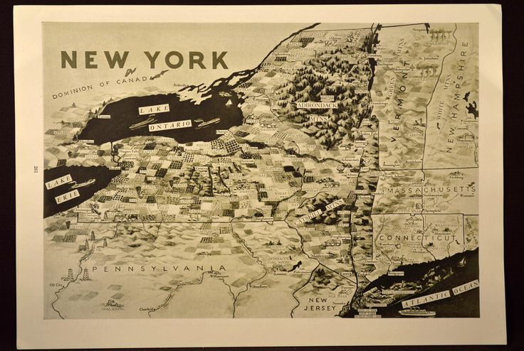 Resources Map Products Map Economic Map New York State