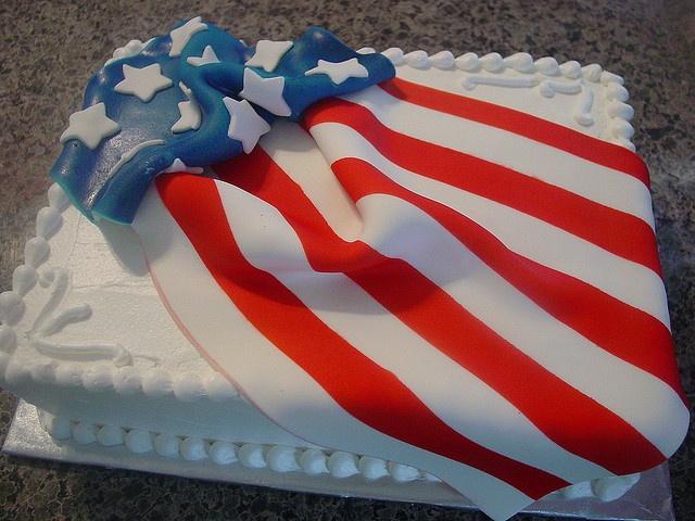 4th of july fondant cake
