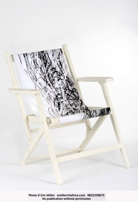 Deckchair, designed and hand-printed - Maid in Africa