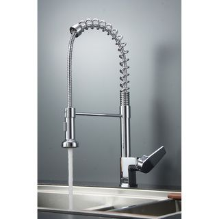 Ruvati RVF1216CH Commercial Style Pullout Spray Polished Chrome Kitchen Faucet | Overstock.com