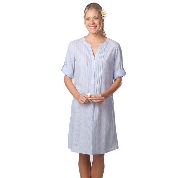 Blue Stripe Night Shirt by Pillow Talk | Pyjamas.com.au