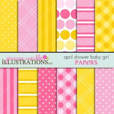 April Shower Baby Girl Papers
