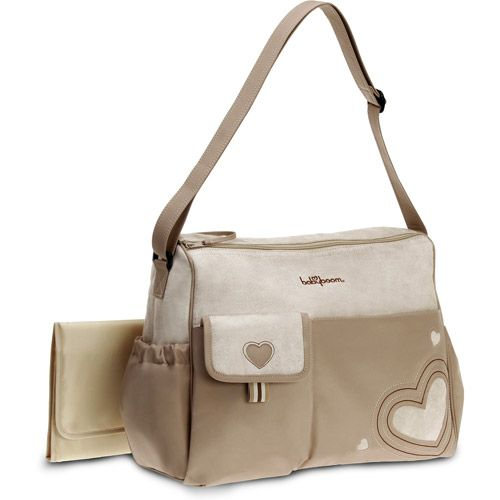 Diaper Bags | Baby Boom - Heart Applique Diaper Bag, Tan: Baby Gear : Walmart.com
