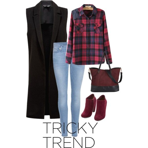 Tricky Trend: Sleeveless Coat (II) by own-style on Polyvore featuring moda, 7 For All Mankind, contestentry and sleevelesscoat