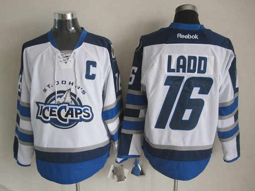 Jets #16 Andrew Ladd White St. John's IceCaps Embroidered NHL Jersey