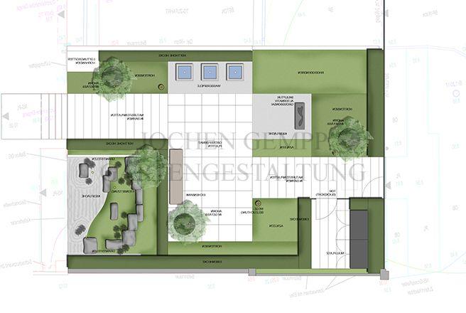 Gartenplanung Für Einen Modernen Vorgarten. Gartengestaltung Ideen ... Ideen Fur Das Gartendesign