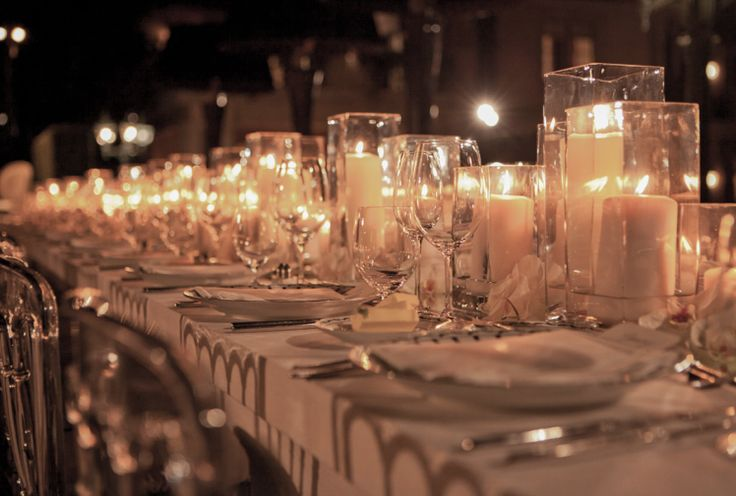 Private estate candle lit dinner by White Lilac, Inc.