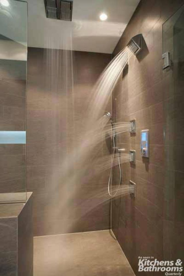 Shower With Multiple Jets And Rain Shower Bathrooms Pinterest Rain Shower And Master Bathrooms