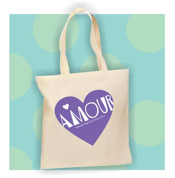 Destination Wedding Welcome Bag Amour Bride French Word by Markeza, $18.00