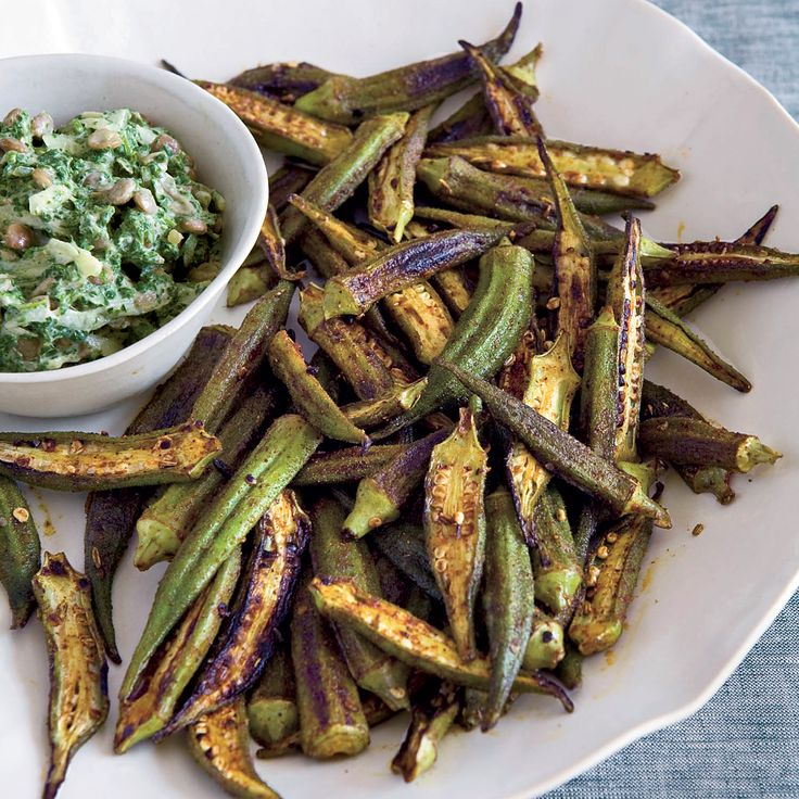 Okra is popular in Southern cooking; Kevin Gillespie roasts it with Indian spices like cumin. The crispy okra is delicious on its own or with yogurt a...