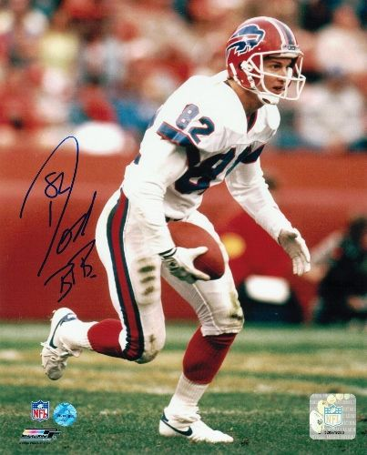 "Don Beebe Buffalo Bills Autographed 8x10 Photo """"Running"""""