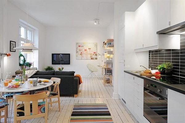 Otthonos lakberendezés - jól megtervezett kis 40nm-es lakás