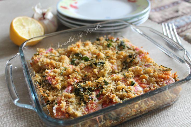 Triglie saporite al forno. Deliziose le triglie diliscate pronte da mangiare, saporite con panatura ai sapori. Ideale da accompagnare a riso o polenta.