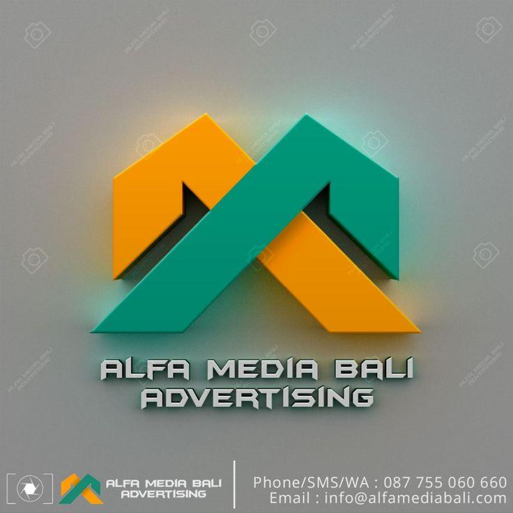 Huruf timbul Galvanis LED Alfamediabali | Alfa Media Bali