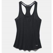 Under Armour Threadborne Streaker Tank Black - Fantastic clothing for running and gym training with Frog Island Sports