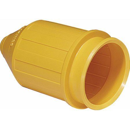 Marinco 7717N Weatherproof Cover For Use with 6361CRN or 6365CRN 50A Male Plugs, Yellow