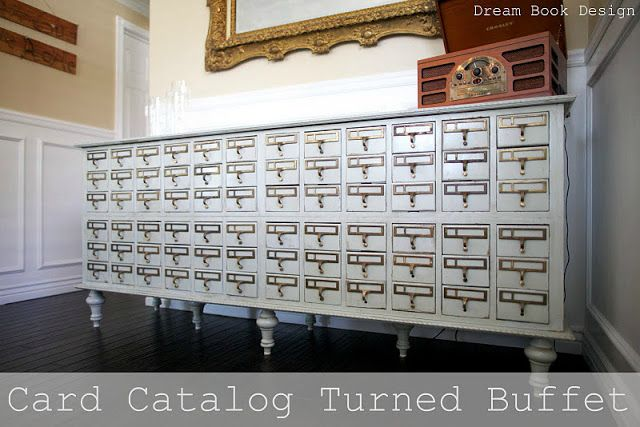 Come see how we turned this Card Catalog into a beautiful buffet. Full tutorial to DIY one yourself.