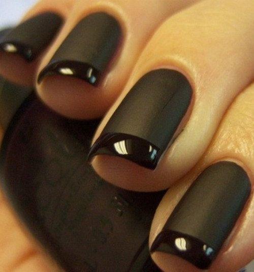 Matte Tuxedo Nail Art ...