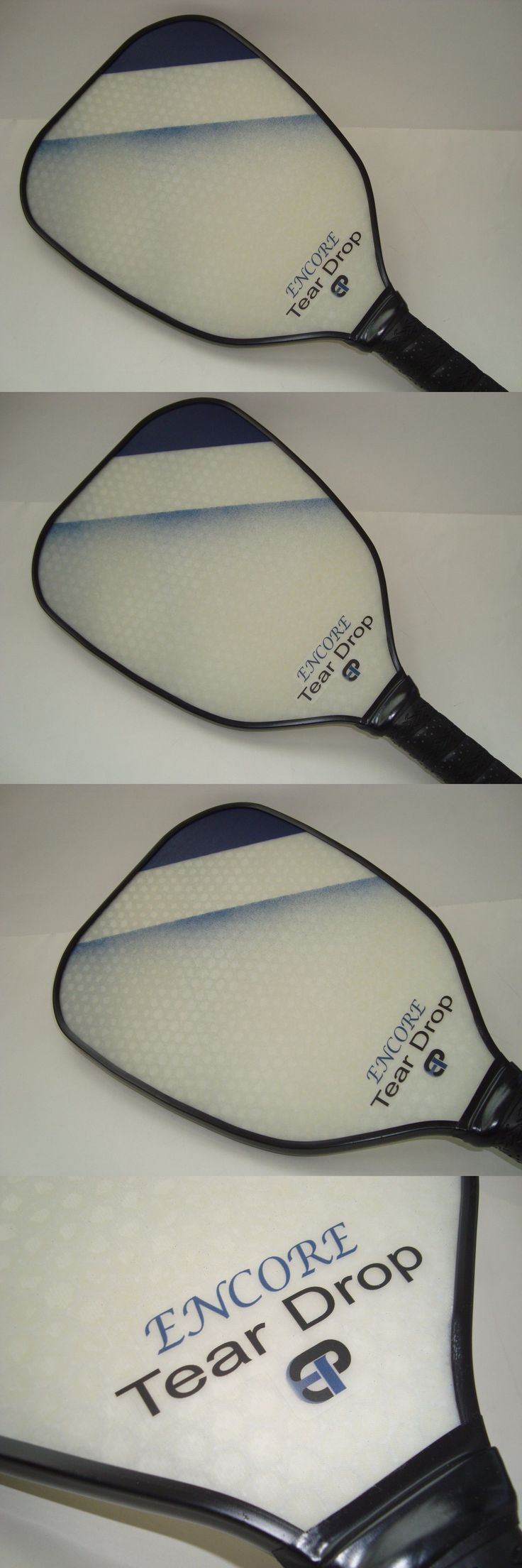 Other Tennis and Racquet Sports 159135: Super New Engage Encore Tear Drop Pickleball Paddle Enhanced Control Spin Blue BUY IT NOW ONLY: $79.0