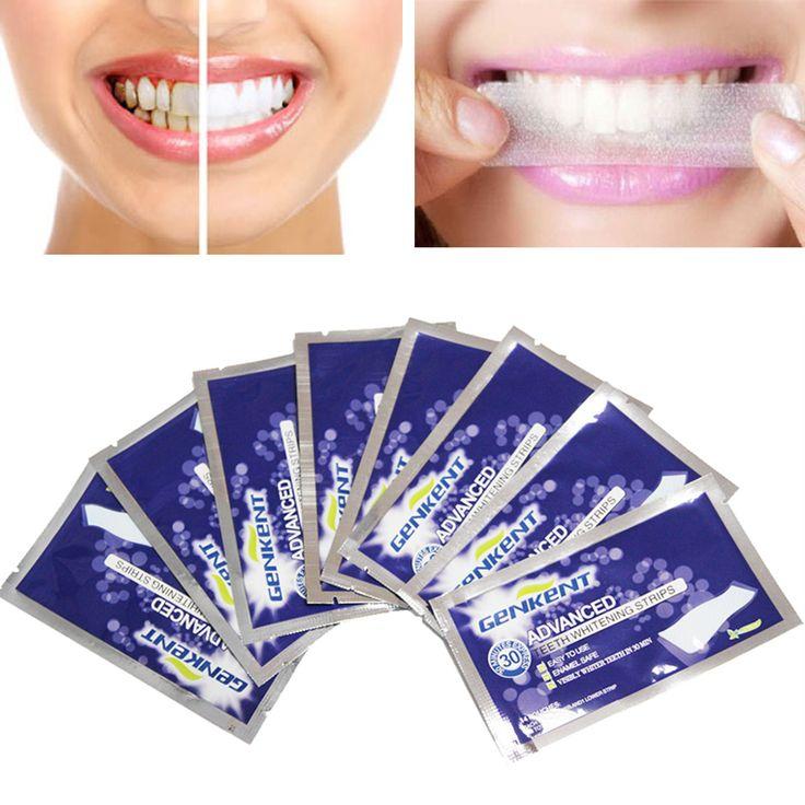 7Pairs Genkent Teeth Whitening Strips Gel Care Oral Hygiene Clareador Dental Bleaching Tooth Whitening Bleach Teeth Whiten Tools