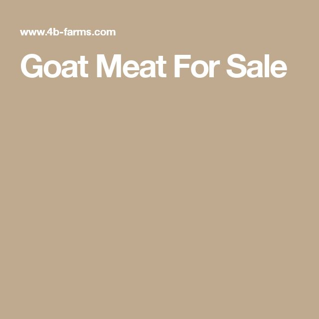 Goat Meat For Sale