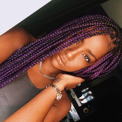 17 Best Images About Dark Purple Box Braids Follow Me