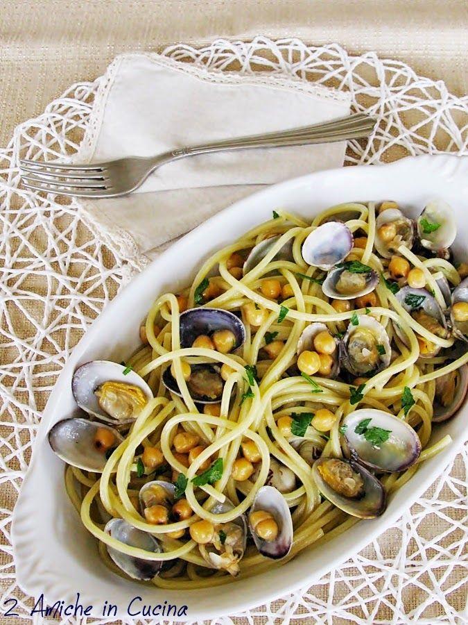 Spaghetti alla Chitarra con Vongole e Ceci