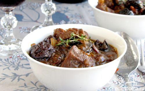 Баранина в пиве с пряными сливами   Кулинарные рецепты от «Едим дома!»