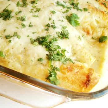 Chicken And White Bean Enchiladas With Creamy Salsa Verde Recipes ...