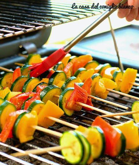 Spiedini di verdure alla griglia