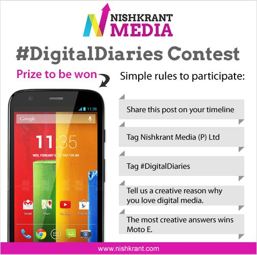 Give us a creative reason why you love digital media. Follow the rules below and begin participating!