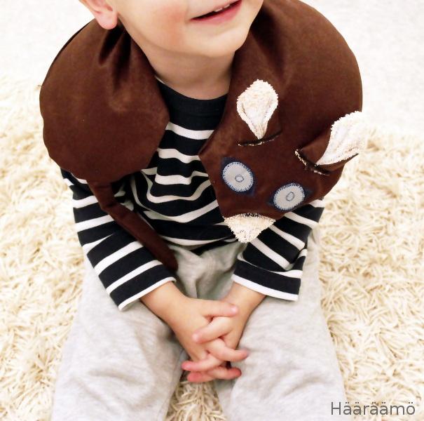 Painava sylikissa riisitäytteellä keskittymisen avuksi lapsille. http://www.haaraamo.fi