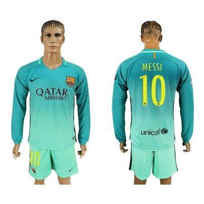 Barcelona 16-17 Lionel MeSSi 10 TRødje Trøje Langærmet.  http://www.fodboldsports.com/barcelona-16-17-lionel-messi-10-trodje-troje-langermet.  #fodboldtrøjer