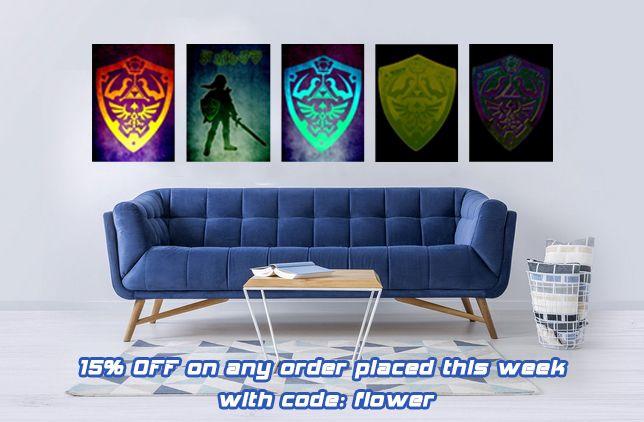 15% OFF on any order placed this week with code flower . #gaming #shields #fantasy #zelda #game #poster #geek #nerd #halftone #home #decor #mancave #kids #Illustration #geekgifts #nerdgifts #gamer #gamingposters #metalprint #gamergifts #displate #poster #kidsroom #zeldafans #legendofzelda