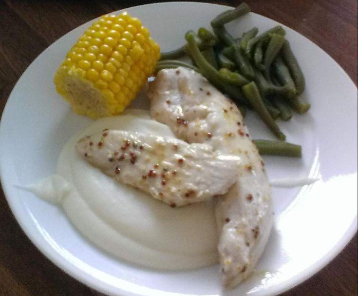 Honey Mustard Chicken and Mashed Potato