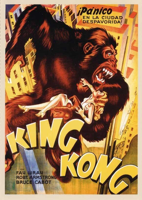 King Kong Spanish 27x40 Movie Poster 1933 King Kong Movie Posters Vintage Vintage Movies