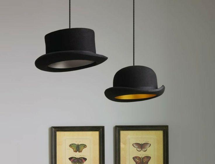 suspensions originales en chapeaux melon