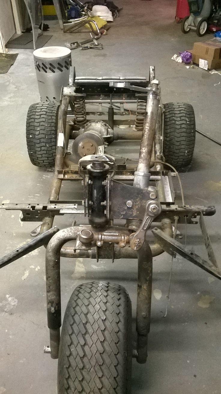 All Stripped Down Vintage Harley Davidson Golf Cart