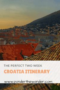 """The perfect Croatia itinerary. Click through to check it out. Travel 