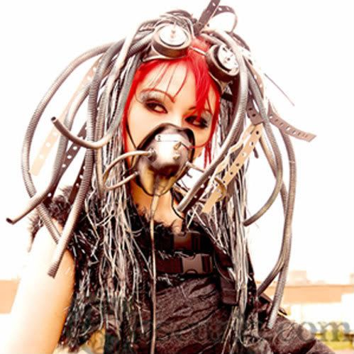 Gothic Fashion: Industrial/ Cybergoth - Vampire Rave Member Article.