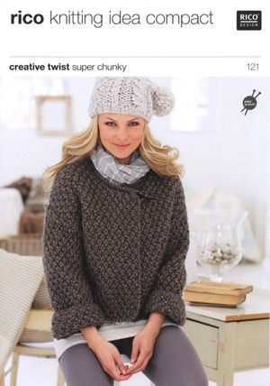 Free Knitting Pattern Chunky Jacket : free chunky knit patterns - Google Search Knitting Patterns Pinterest P...