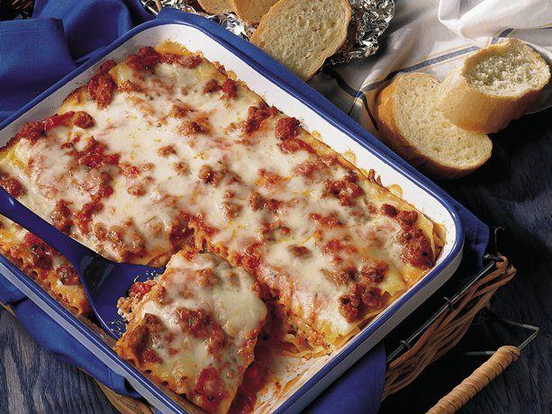 Italian Sausage Lasagna (lighter recipe): Ellen S Killer, Italian Sausages, Food, Italian Sausage Lasagna, Lasagna Recipes, Lighter Recipe, Killer Lasagna, Favorite Recipes, Lasagna Lighter