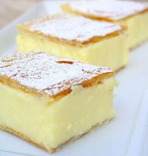 Vanilla Slice - like a vanilla custard pie bar, delicious - and so simple!