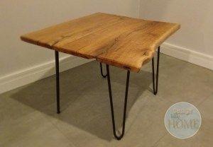 Dębowy stolik na nogach hairpin | Design Little Home