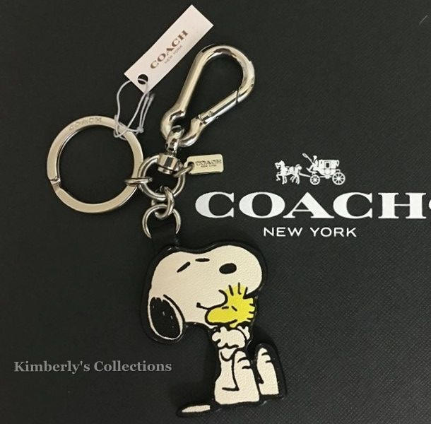 COACH X Peanuts Limited SNOOPY & WOODSTOCK Key Ring Chain Purse Charm Fob NWT  #Coach #Snoopy #Peanuts #handbags