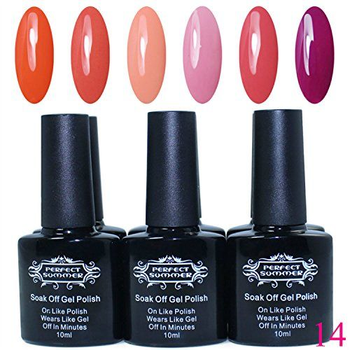 Best Perfect Summer pcs ml pc Vernis Ongles Gel Semi Permanent UV ou LED