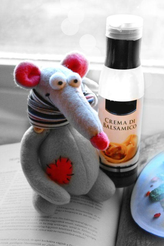 Stuffed Rat Stuffed Animal Waldorf toy by Fairybugcreativetoys