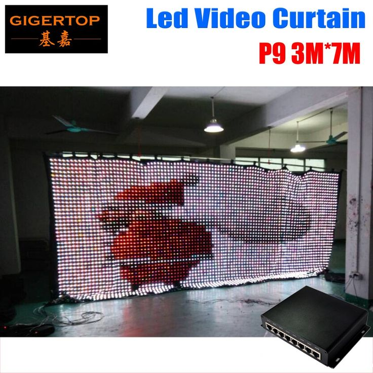 Freeshipping P9 3mx7m LED Screens, Curtains, Drapes and Video walls, creative and professional LED video product solutions! #Affiliate