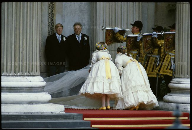 Diana Spencer Wedding | At the wedding of Prince Charles to Lady Diana Spencer, held at St Paul's Cathedral.